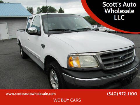 2002 Ford F-150 for sale at Scott's Auto Wholesale LLC in Locust Grove VA
