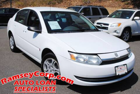 2004 Saturn Ion for sale at Ramsey Corp. in West Milford NJ