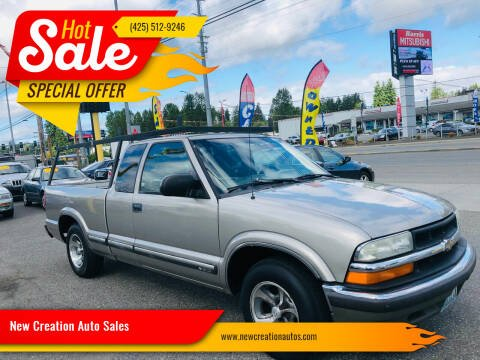 2002 Chevrolet S-10 for sale at New Creation Auto Sales in Everett WA