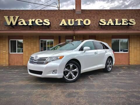 2012 Toyota Venza for sale at Wares Auto Sales INC in Traverse City MI