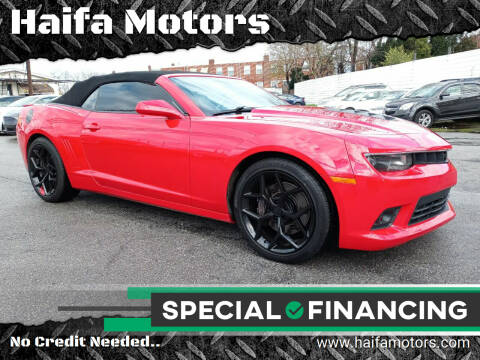 2015 Chevrolet Camaro for sale at Haifa Motors in Philadelphia PA