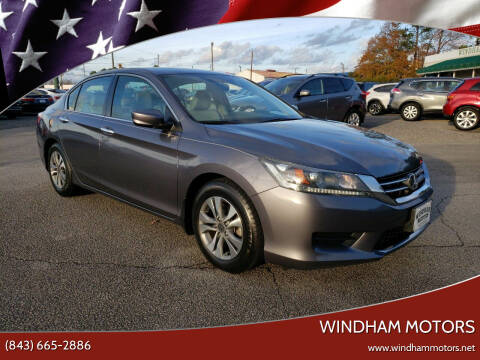 2015 Honda Accord for sale at Windham Motors in Florence SC
