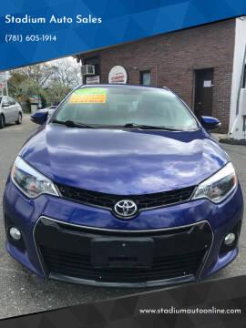 2014 Toyota Corolla for sale at Stadium Auto Sales in Everett MA