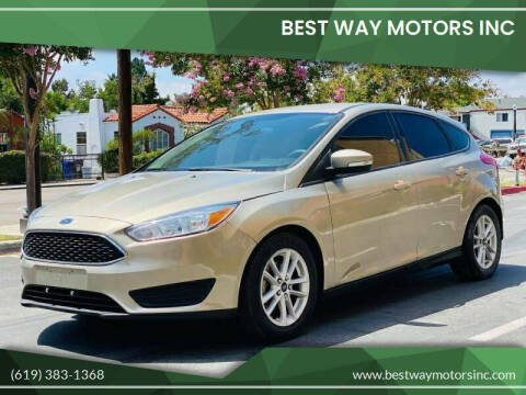 2015 Ford Focus for sale at BEST WAY MOTORS INC in San Diego CA