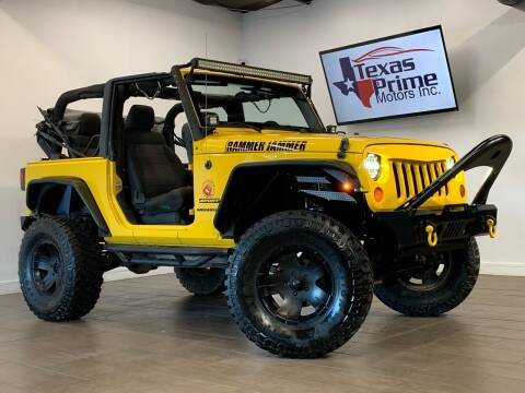 2011 Jeep Wrangler for sale at Texas Prime Motors in Houston TX