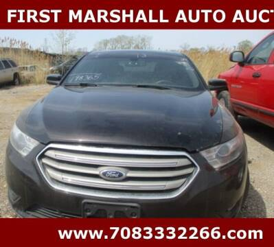2013 Ford Taurus for sale at First Marshall Auto Auction in Harvey IL