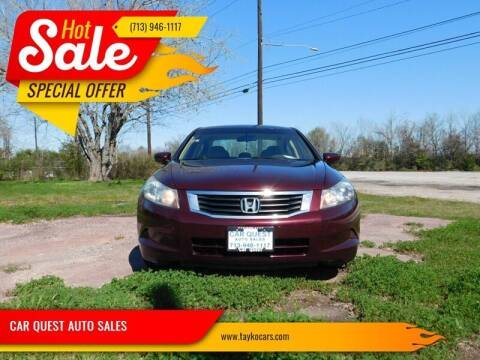 2010 Honda Accord for sale at CAR QUEST AUTO SALES in Houston TX