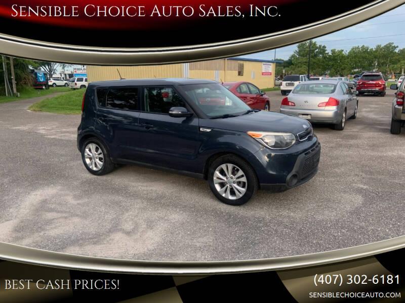 2014 Kia Soul for sale at Sensible Choice Auto Sales, Inc. in Longwood FL