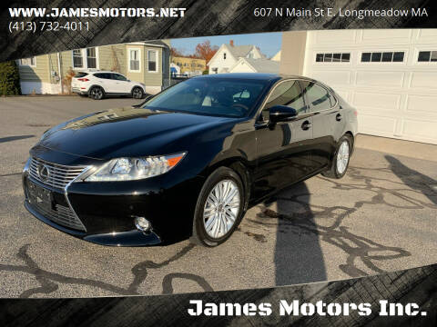 2015 Lexus ES 350 for sale at James Motors Inc. in East Longmeadow MA