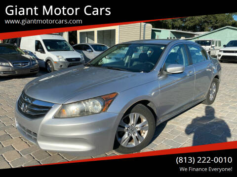 2012 Honda Accord for sale at Giant Motor Cars in Tampa FL