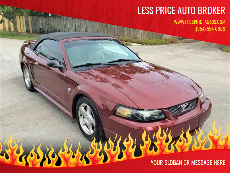2004 Ford Mustang for sale at LESS PRICE AUTO BROKER in Hollywood FL