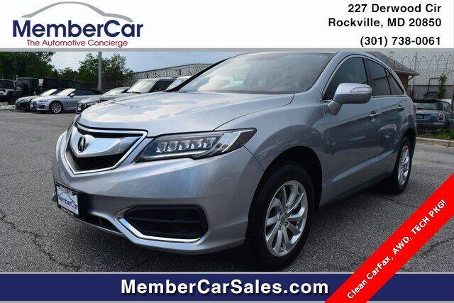 2017 Acura RDX for sale at MemberCar in Rockville MD