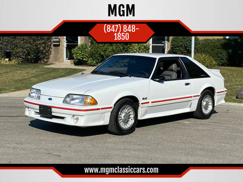 1987 Ford Mustang for sale at MGM CLASSIC CARS in Addison, IL