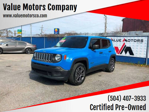 2015 Jeep Renegade for sale at Value Motors Company in Marrero LA