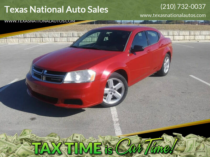2013 Dodge Avenger for sale at Texas National Auto Sales in San Antonio TX