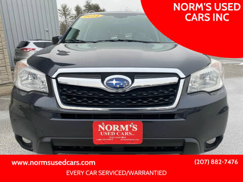 2014 Subaru Forester for sale at NORM'S USED CARS INC in Wiscasset ME