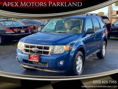2008 Ford Escape for sale at Apex Motors Parkland in Tacoma WA