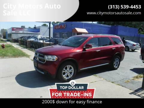2013 Dodge Durango for sale at City Motors Auto Sale LLC in Redford MI