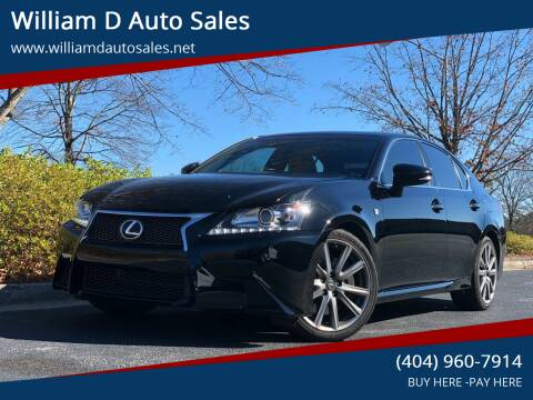 2015 Lexus GS 350 for sale at William D Auto Sales in Norcross GA