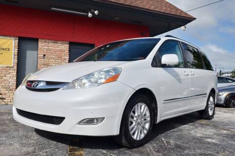 2008 Toyota Sienna for sale at ALWAYSSOLD123 INC in North Miami Beach FL