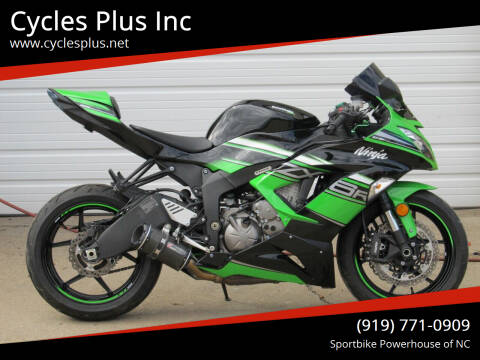 2018 Kawasaki ZX6R 636 for sale at Cycles Plus Inc in Garner NC