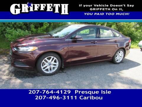 2013 Ford Fusion for sale at Griffeth Mitsubishi - Pre-owned in Caribou ME