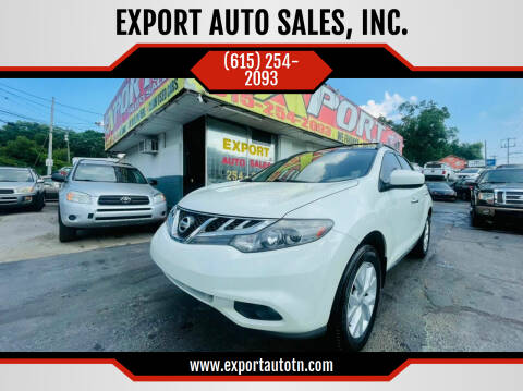 2011 Nissan Murano for sale at EXPORT AUTO SALES, INC. in Nashville TN