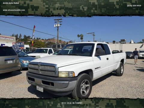 2001 Dodge Ram Pickup 1500 for sale at ALSA Auto Sales in El Cajon CA