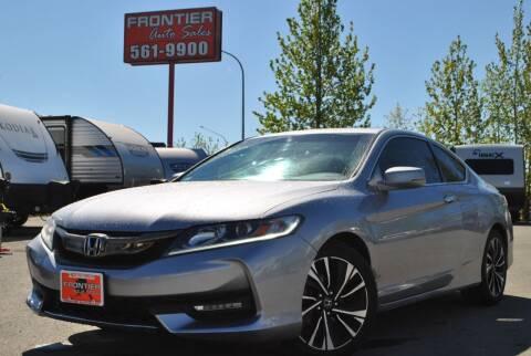 2017 Honda Accord for sale at Frontier Auto & RV Sales in Anchorage AK