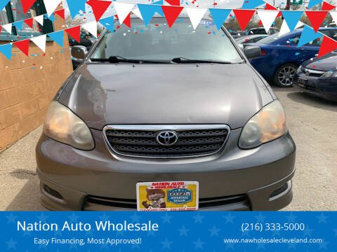 2008 Toyota Corolla for sale at Nation Auto Wholesale in Cleveland OH