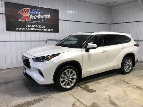 2020 Toyota Highlander for sale at Karl Pre-Owned in Glidden IA