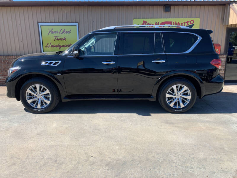 2017 Infiniti QX80 for sale at BIG 'S' AUTO & TRACTOR SALES in Blanchard OK