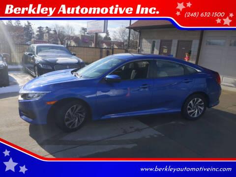 2017 Honda Civic for sale at Berkley Automotive Inc. in Berkley MI