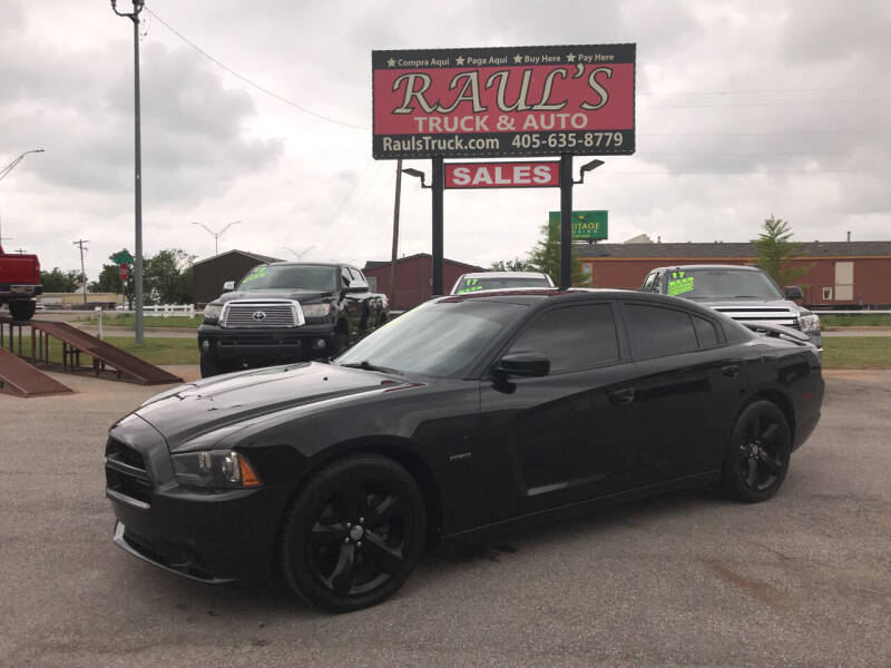 2013 Dodge Charger for sale at RAUL'S TRUCK & AUTO SALES, INC in Oklahoma City OK