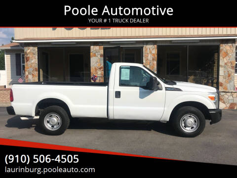 2012 Ford F-350 Super Duty for sale at Poole Automotive in Laurinburg NC