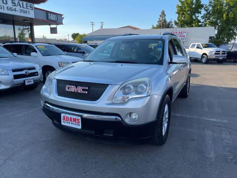 2007 GMC Acadia for sale at Adams Auto Sales in Sacramento CA