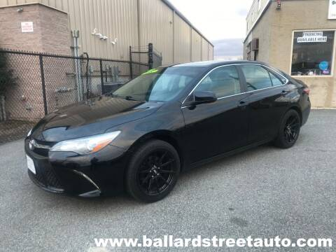 2016 Toyota Camry for sale at Ballard Street Auto in Saugus MA