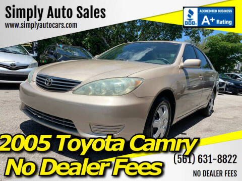 2005 Toyota Camry for sale at Simply Auto Sales in Palm Beach Gardens FL