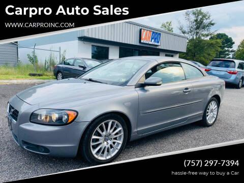 2007 Volvo C70 for sale at Carpro Auto Sales in Chesapeake VA