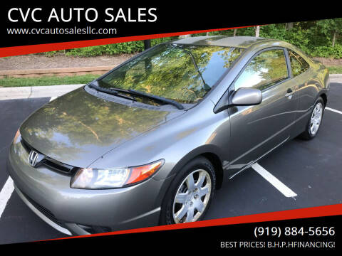 2008 Honda Civic for sale at CVC AUTO SALES in Durham NC