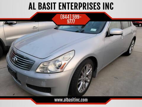2008 Infiniti G35 for sale at AL BASIT ENTERPRISES INC in Riverside CA