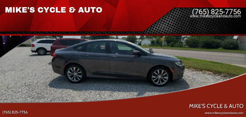 2016 Chrysler 200 for sale at MIKE'S CYCLE & AUTO in Connersville IN