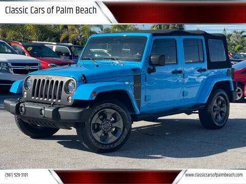 2017 Jeep Wrangler Unlimited for sale at Classic Cars of Palm Beach in Jupiter FL