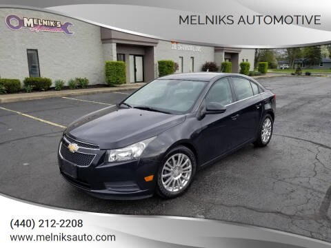2012 Chevrolet Cruze for sale at Melniks Automotive in Berea OH