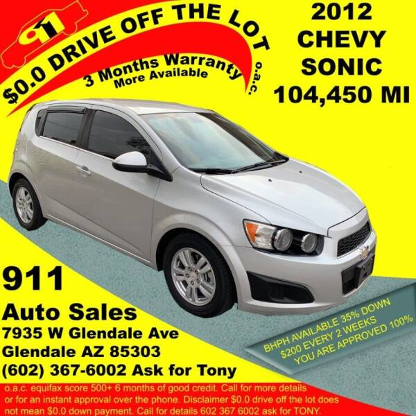2012 Chevrolet Sonic for sale at 911 AUTO SALES LLC in Glendale AZ