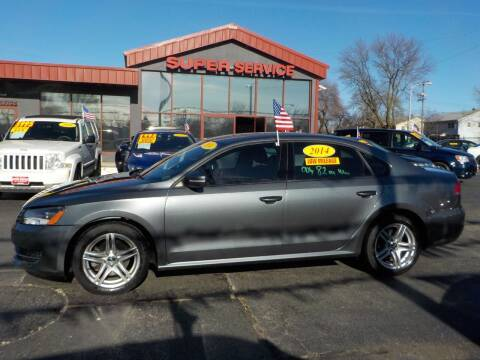 2014 Volkswagen Passat for sale at Super Service Used Cars in Milwaukee WI