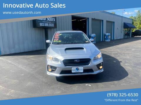 2016 Subaru WRX for sale at Innovative Auto Sales in North Hampton NH