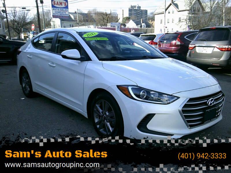 2017 Hyundai Elantra for sale at Sam's Auto Sales in Cranston RI