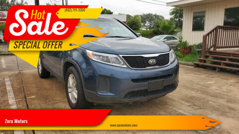 2014 Kia Sorento for sale at Zora Motors in Houston TX