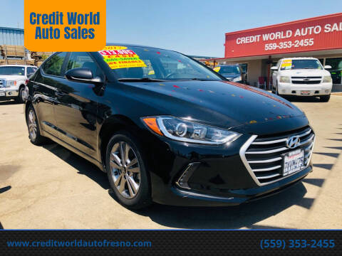 2017 Hyundai Elantra for sale at Credit World Auto Sales in Fresno CA